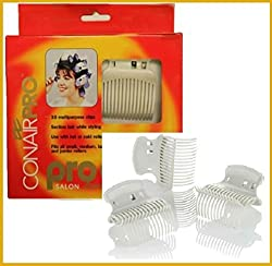 Conair Proclips Salon Hot Roller Accessories, Vent Clamps, Hot or Cold Roller Clips, Jumbo Roller Clamps, Butterfly Clamps, Super Clips 10 Clips Per Box