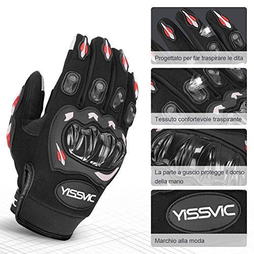 YISSVIC-Guanti-da-Moto-Estivi-Guanti-Moto-Touchscreen-Antiscivolo-con-Fori-Traspiranti-Uomo-Per-Arrampicata-Alpinismo-Escursioni-Nero-L