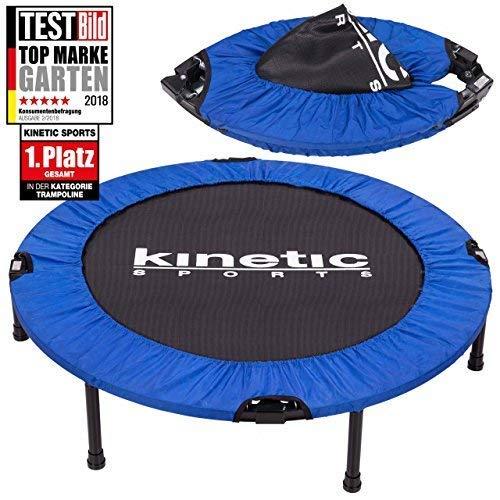 Kinetic Sports 1.Platz Testbild Auszeichnung Fitness Trampolin Indoor Minitrampolin Sprungtraining, Smart Jumping Workout, Durchmesser 102cm, faltbar, Belastbar bis 100kg