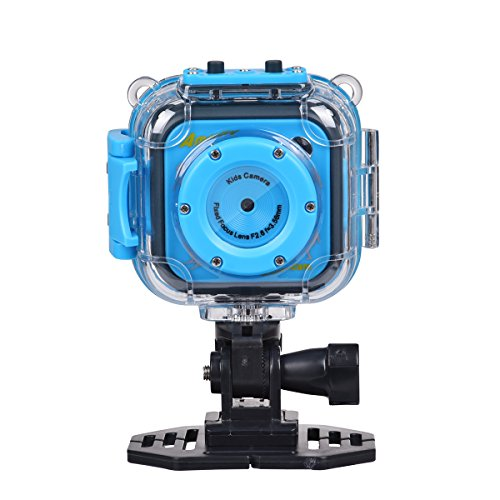 Miavogo Kinder Wasserdicht Aktion Kamera Digitalkamera Video 1.77 Zoll LCD für Sport (Blau)