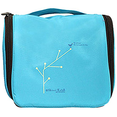 Missofsweet portatile Hanging pieghevole da viaggio da toilette lavare borsa Make Up Cosmetici Sacchetti con gancio Navy