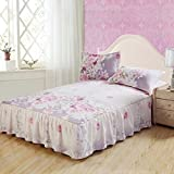 Best Linen Store Bed Skirts - YFFS Bed Linen Single Bed Skirt Single Bedspread Review