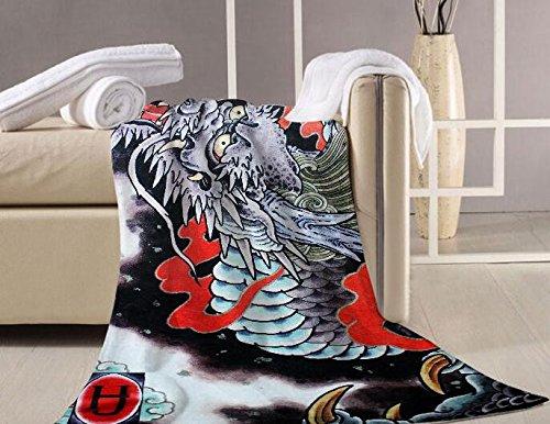Mangeoo un bellissimo drago giapponese acqua materassino yoga asciugamano ornamenti di parete shop tatuaggio tattoo shop decorazione biliardo video 140x70cm