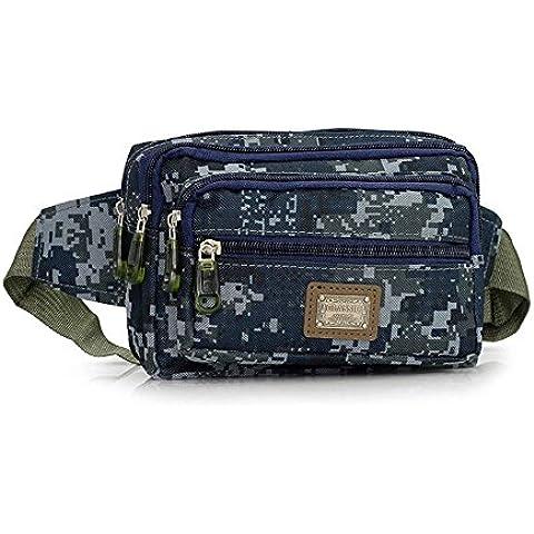 wewod Camouflage Nylon borsa sport e Outdoor Mode Borsa da cintura, a, 20*13*13 cm