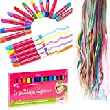 Insense Washable Hair Chalk for Kids Girls, Temporary Hair Chalks Pens Set Perfect Party Birthday Gifts for Girls, Boys, Women, Men Washable Instant Hair Dye for All Hair Colors - 12 Pack, Non-Toxic