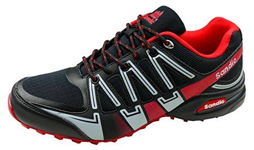 gibra Herren Sneaker Sportschuhe, Art. 8137, Sehr Leicht und Bequem, Schwarz/Rot, Gr. 41-46 Schwarz/Rot