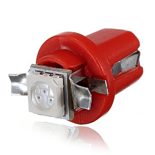 Preisvergleich Produktbild SODIAL(R) 10x T5 / B8.5d 5050 SMD LED Sockel Innenraumbeleuchtung Tachobeleuchtung Tacho Rot