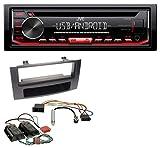 JVC KD-R492 CD AUX USB 1DIN MP3 Autoradio für Audi A4 B6 B7 00-08 Symphony Bose Aktivsystem Mini-ISO