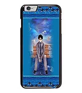 PrintDhaba Sad Boy D-3166 Back Case Cover for APPLE IPHONE 6 (Multi-Coloured)