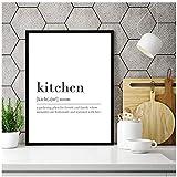 Moderne Küche Definition Zeichen Drucke Minimalistischen Poster Wörterbuch Kunst Leinwand Malerei Bild Küche Wandkunst Dekor Geschenk 40x50 cm Kein Rahmen