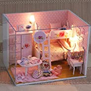 Anself Miniature Super Mini Size Doll House Model Building Kits Wooden Furniture Toys DIY Dollhouse Girl Bedro