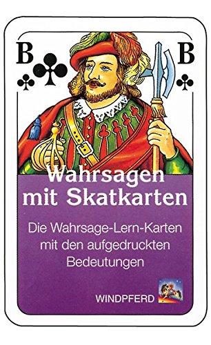 Wahrsagen mit Skatkarten. 32 Wahrsage-Lern-Karten. Mit aufgedruckten Bedeutungen