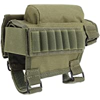 GLOGLOW Paquete de Culata de 3 Colores, Nylon Sharpshooter Hunter Rifle de cañón de Caza Culata de mechón Mejilla Ajustable Rest Rifle Cheek Pad (Verde Militar)