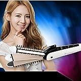 MeiZiWang Warmluftbürste Hot Hair Brush 3 In 1 Keramik Hitzebeständige Haarglätter Kamm Dual-Spannung 110V 240V Auto Abschaltung,White