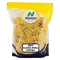 Neelam Foodland Diet Kanda Poha Chivda (Flat Rice Flakes, Onion Flakes Chana, Mixed Spices and Salt) (800G)