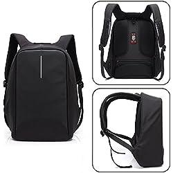 UBAYMAX Mochila Antirrobo USB Mochila de Seguridad, 15.6 Mochila para Ordenador Portátil, Regalo para Estudiantes/Hombre, Mochila Bolsa Impermeable de Colegio Viaje Negocios (Negro-1)