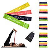 CIVAH resistance loop bands natural latex resistance band workout for hysical therapy pilates yoga rehab sport fitness belt set of 4