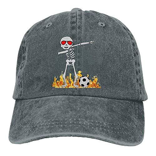 Halloween Dabbing Skeleton Soccer Adjustable Cotton Cap