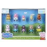 Peppa Pig da collezione 10 confezioni di figure in divertimento Dress up designs! ogni figura è articolata con braccia e gambe mobili. Un pacchetto di dieci cifre in dotazione. Gli stili possono variare.