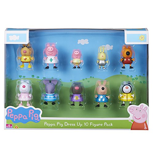 Peppa Pig 06668 Dress-Up 10-Figure Pack, Multicoloured, 4 X 5 X 5.5 cm