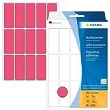 Herma 2416 Vielzwecketiketten farbig (20 x 50 mm, Papier matt) 360 Aufkleber, 24 Blatt, neon rot, selbstklebend, Handbeschriftung