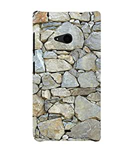 EPICCASE Mountain rocks wall Mobile Back Case Cover For Nokia Lumia 535 (Designer Case)