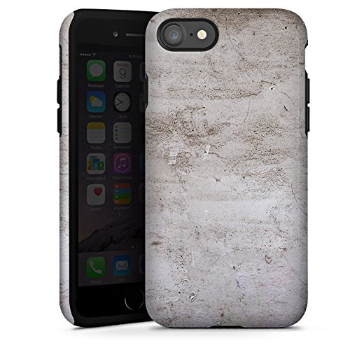 Apple iPhone X Silikon Hülle Case Schutzhülle Stein Struktur Wand Tough Case glänzend