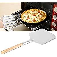 "Aluminio Pizza Peel Paddle cortador molde para horno de herramientas con mango de madera para fabricantes de Pizza horno barbacoa, disponible en 3tamaños de remo M(12""x14""x26"")"