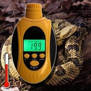 Digital Infrarotthermometer Terrarium Temperaturmesser Energieausweis Messung Wärmebild Reptilien Echsen Schlangen TMT-101 IR1