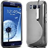 CLEAR S LINE GEL SILICONE RUBBER CASE COVER SAMSUNG GALAXY S3 i9300 + SCREEN PROTECTOR + POLISHING CLOTH & MINI TOUCH SCREEN STYLUS BY Connect Zone�