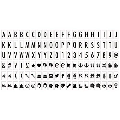 Ginger Snap 120Stück Ersatz Schwarz Buchstaben Pack Zeichen, Menschen, Symbole, Bilder und Tiere für die Beleuchtung, Cinema Licht Box A5Größe (Schwarze Menschen Bilder)