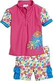Playshoes Mädchen Tankini 2 tlg. Bade - Set Blumenmeer mit UV - Schutz, Gr. 74 (Herstellergröße: 74/80), Mehrfarbig (Pink 18)