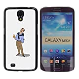 GagaDesign / Hart Case Cover Handy Schutz Hülle Schale Etui - Beer Man Art Drawing Holiday Relaxed - Samsung Galaxy Mega 6.3 I9200 SGH-i527