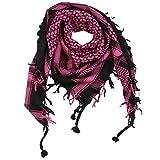 Superfreak Palituch - schwarz - pink - 100x100 cm - Pali Palästinenser Arafat Tuch - 100% Baumwolle