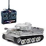 RC Panzer Tiger I Frühe Version winter-grau 1:16 schussfähig Rauch & Sound RTR fahrfertig