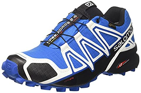 Salomon Speedcross 4 Gtx, Chaussures d'Escalade Homme, Multicolore (White Sensif Indigo Bu), 43 1/3 EU