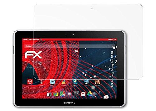 Samsung Galaxy Tab 10.1N Panzerfolie - 2 x atFoliX FX-Shock-Antireflex blendfreie stoßabsorbierende Panzerschutzfolie Displayschutzfolie