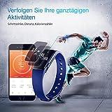 【Neue Version】 Fitness Tracker,Mpow Bluetooth 4,0 Fitness Armbänder mit Pulsmesser,Smart Fitness Tracker mit Herzfrequenzmesser, Schrittzähler, Schlaf-Monitor, Aktivitätstracker, Remote Shoot, Anrufen / SMS, finden Telefon für Android iOS Smartphone wie iPhone 7/7 Plus/6S/6/6 Plus, Huawei P9. - 4
