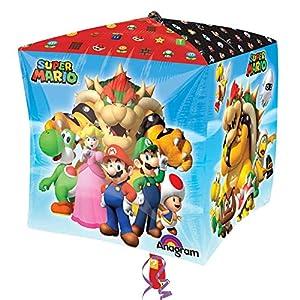 amscan 3201201 Super Mario - Juego de Cubos Decorativos (15 x 15 Pulgadas)