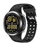 Fuibo Smartwatch, EX32 Information erinnert IP67 Level Waterproof Gesundheitsüberwachung Smartwatch Intelligente Armbanduhr Sport Fitness Tracker Armband (Schwarz)
