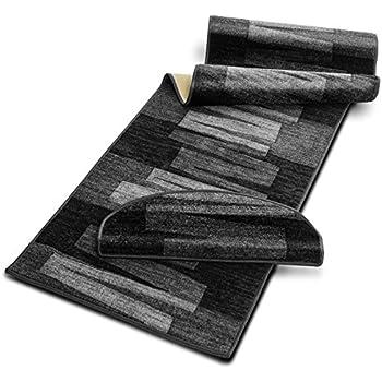 teppichl ufer flur l ufer br cke teppich agadir akzent grau meterware rutschfest 100 cm breit. Black Bedroom Furniture Sets. Home Design Ideas