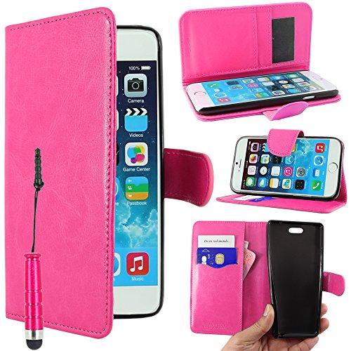 """ebestStar - pour Apple iPhone 6S 6 Plus écran 5,5"""" - Housse Coque Etui Portefeuille Support PU Cuir + Mini Stylet tactile, Couleur Rouge [Dimensions PRECISES de votre appareil : 158.1 x 77.8 x 7.1 mm, Rose"""