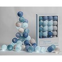 Lichterkette Cap Reinga mit 20 Lampions, La Case de Cousin Paul Fairy Lights, Cotton Ball Lichtkugeln