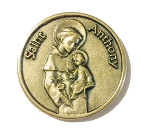 Lumen Mundi St. Anthony Silber Ton Pocket Münze -