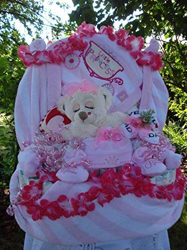 """XL Windeltorte""""Little Princess-Babydecke und Schlafbärchen""""Geburt,Taufe,Hochzeit"""