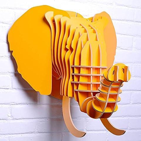 WSZYD kunsthandwerk aus holz inneneinrichtungsgegenstände holz - handwerk kreative inneneinrichtungsgegenstände wandgemälde wand inneneinrichtungsgegenstände persönlichkeit 304 367mm 483 * *,gelb