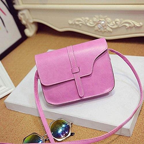 Saingace Frauen-Mädchen-Schulter-Beutel Faux-lederner Schultaschen-Crossbody Tote-Handtasche Handtaschen Schultertasche Freizeitrucksack Tasche Rucksäcke Hot pink