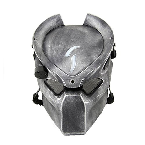 Tactical Protective Paintball Airsoft Métal métallique Alien et Predator CS Field Infrared Lamp Masque complet WorldShopping4U