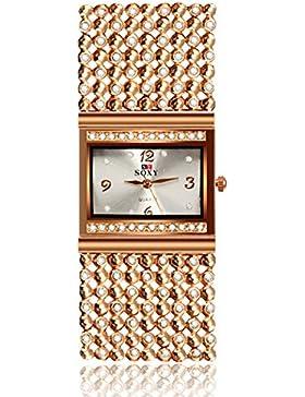 NICERIO Damen Quarz Uhr Armbanduhr Kristall Schöne Mode