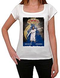 Sergio Ramos 2 T-shirt Femme,Blanc, t shirt femme,cadeau